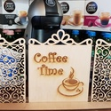 """Térelválasztó """"Coffee Time"""" pergola irodába, konyhába Irodai dekoráció, Dekoráció, Otthon, lakberendezés, Bútor, Asztaldísz, Famegmunkálás, Térelválasztó """"Coffee Time"""" felirattal  55cm széles, 20 cm magas, 4 mm vastag rétegelt nyírfából ké..., Meska"""