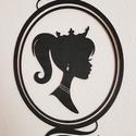 Hercegnős fali dísz, gyerek- vagy babaszoba dekoráció, Dekoráció, Baba-mama-gyerek, Esküvő, Gyerekszoba, Famegmunkálás, Melyik kislány nem örülne egy ilyen hercegnős fali dísznek a szobájában? Természetesen más színben ..., Meska