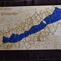 Balaton és környéke kirakó, Dekoráció, Játék, Készségfejlesztő játék, Fajáték, Famegmunkálás, Festett tárgyak, A Balaton és környéke kirakónk a települések közigazgatási határa alapján készült. A Balaton vízfel..., Meska