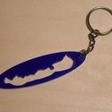 Balaton kulcstartó, Mindenmás, Kulcstartó, Mindenmás, 3mm vastag, kék plexiből készült kulcstartó. A Balaton körvonalát követő kivágással. kb. 7x2 cm, Meska