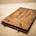 Alternatív vendégkönyv, fotóalbum, névre szóló album, esküvői fotóalbum, esküvői vendégkönyv, Esküvő, Naptár, képeslap, album, Nászajándék, Fotóalbum, Famegmunkálás, rendelésre készül, elkészítési idő: ~14 nap  - A fedlapok 3mm-es, fa lemezből készítjük. A lapokat ..., Meska