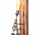 BENZINES FORRASZTÓ LÁMPA, loft lámpa, indusztriál loft, indusztriális, lakberendezés, újragondolt, recycle art, Otthon, lakberendezés, Lámpa, Fali-, mennyezeti lámpa, Imádom ezt a darabot! Egyszerűen nem tudtam ott hagyni a régiség kereskedőnél. Eredetileg is szép ál..., Meska