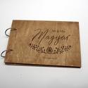 Alternatív vendégkönyv, fotóalbum, névre szóló album, esküvői fotóalbum, esküvői vendégkönyv, Esküvő, Naptár, képeslap, album, Nászajándék, Fotóalbum, rendelésre készül, elkészítési idő: ~7 nap + postázás  - A fedlapok 3mm-es, fa lemezből készítjük. A..., Meska