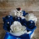 Ballagási box, Otthon & lakás, Dekoráció, Ünnepi dekoráció, Ballagás, Mindenmás, Kék-fehér ballagási box, Meska