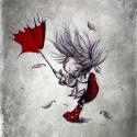 Széllel szemben - aláírt, dátumozott nyomat, Képzőművészet, Illusztráció, Fotó, grafika, rajz, illusztráció,  A 6 darabos szürke sorozatom egyik darabja. Fekete&fehér, szürke kedvelőknek..   Technikai informá..., Meska