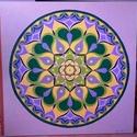 Kiteljesedés Mandala, Képzőművészet, Otthon, lakberendezés, Festmény, Falikép, Festészet, Nappali dísze lehet ez a nagyméretű ( 76 x 76 cm) akril festékkel fára festett és lakkozott mandala..., Meska