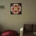 Szerelem Mandala, Képzőművészet, Otthon, lakberendezés, Festmény, Falikép, Festészet, Nappali dísze lehet ez a nagyméretű ( 76 x 76 cm) akril festékkel fára festett és lakkozott mandala..., Meska