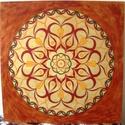 Szeretet Mandala, Képzőművészet, Otthon, lakberendezés, Szerelmeseknek, Festmény, Festészet, Nappali dísze lehet ez a nagyméretű ( 76 x 76 cm) akril festékkel fára festett és lakkozott mandala..., Meska