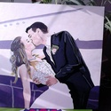 Esküvői fotó alapján, Otthon, lakberendezés, Esküvő, Falikép, Nászajándék, Festészet, Famegmunkálás, Ideális ajándék fiatal házasoknak névnapra, születésnapra, évfordulóra, karácsonyra stb. egy esküvő..., Meska