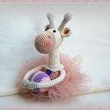 Balerina zsiráf labdával, Játék, Horgolás, Balerina zsiráf Ez a bájos balerina minden kislány álma :) Sokat gyakorolta a labda gyakorlatokat, ..., Meska