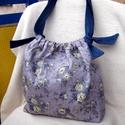 Virágmintás farmer  táska , Táska, Ruha, divat, cipő, Válltáska, oldaltáska, Női ruha, Varrás, Erős strapabíró táska a mindennapokra.   Virágmintás és egyszínű farmervászonból  készítettem.  Bél..., Meska