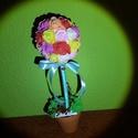 Édes Otthon rózsafa, Dekoráció, Dísz, Mindenmás, Örökrózsa fa habrózsából. Élénk színek, a szürke hétköznapokra :)  Magassága 33 cm, a rózsagömb átm..., Meska