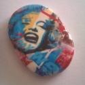 Marilyn Monroe - New York cabochon, Egyedileg süthető gyurmából készített caboch...