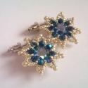 Üde kék virágok , Egyik kedvenc virágformám, ezúttal fülbevalón...