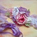 """"""" Lilla"""" virágos alkalmi öv, derék dísz, Esküvő, Ruha, divat, cipő, Hajdísz, ruhadísz, Virágkötés, Gyönyörü élénk színekben álmodtam meg ezt a tavaszt idéző alkalmi övet. Akár esküvőkre koszorúslány..., Meska"""