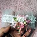 """""""Miss Vintage"""" pöttyös tüll combcsipke, combgyűrű, legényfogó, boldogság pántlika, Esküvő, Esküvői ékszer, Csipke, pöttyös tüll, rózsa, masni...mi kellhet még a tökéletes vintage kiegédzítőhöz ;) ..., Meska"""