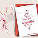 Karácsonyi Képeslap, Adventi Képeslap, Vicces Karácsonyi lap, Karácsonyi Szerelmes üdvözlőlap , Karácsonyi, adventi apróságok, Férfiaknak, Ajándékkísérő, képeslap, Vőlegényes, A/6-os méretű VICCES Igényes Egyedi Karácsonyi képeslap, piros borítékkal.  A saját magam által terv..., Meska