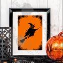 Halloween Kép, Halloween party, Halloween Dekoráció, Őszi narancssárga Dekor, Dekoráció, Kép, Ünnepi dekoráció, Dísz, A/4-esméretű Halloween-es nyomtatott kép, Print lap.  Tökéletes Halloween-i dekoráció vagy ajándék H..., Meska