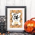 Halloween Kép, Halloween party, Halloween Dekoráció, Őszi narancssárga Dekor, Dekoráció, Naptár, képeslap, album, Kép, Dísz, A/4-es méretű Halloween-es nyomtatott kép, Print lap.  Tökéletes Halloween-i dekoráció vagy ajándék ..., Meska
