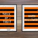 Halloween Kép, Halloween party, Halloween Dekoráció, Őszi narancssárga Dekor, Dekoráció, Képzőművészet, Kép, Illusztráció, Fotó, grafika, rajz, illusztráció, Mindenmás, A/5-ös(14.8 x 21cm)méretű 2 Darabos Halloween-es nyomtatott kép szett.   Tökéletes Halloween-i deko..., Meska