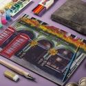 Őszi Dekoráció, Angol festmény, Skót Város, Edinburgh, London, Dekoráció, Képzőművészet, Kép, Festmény, A/4-es méretű nyomtatott kép, Print lap.   A nyomat saját akril festék alkotásomról készül ami egy H..., Meska