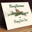 Vintage Karácsonyi Képeslap, Adventi Képeslap, Karácsonyi lap, Karácsonyi üdvözlőlap, Naptár, képeslap, album, Dekoráció, Karácsonyi, adventi apróságok, Ajándékkísérő, képeslap, Fotó, grafika, rajz, illusztráció, Mindenmás, A/6-os méretű Igényes Egyedi Karácsonyi képeslap, piros borítékkal.  A saját magam által tervezett ..., Meska