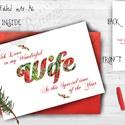 Karácsonyi Képeslap, Adventi Képeslap, Karácsonyi Dekoráció, Karácsonyi üdvözlőlap, Ünnepi képeslap , Naptár, képeslap, album, Dekoráció, Karácsonyi, adventi apróságok, Ajándékkísérő, képeslap, Fotó, grafika, rajz, illusztráció, Mindenmás, A/6-os méretű Igényes Egyedi Karácsonyi képeslap, piros borítékkal.  A saját magam által tervezett ..., Meska