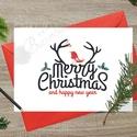 Karácsonyi Képeslap, Adventi Képeslap, Karácsonyi Dekoráció, Karácsonyi üdvözlőlap, Ünnepi képeslap , Naptár, képeslap, album, Dekoráció, Karácsonyi, adventi apróságok, Ajándékkísérő, képeslap, A/6-os méretű Igényes Egyedi Karácsonyi képeslap, piros borítékkal.  A saját magam által tervezett Ü..., Meska