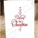 Karácsonyi Képeslap, Adventi Képeslap, Karácsonyi Dekoráció, Karácsonyi Szerelmes üdvözlőlap , Férfiaknak, Karácsonyi, adventi apróságok, Ajándékkísérő, képeslap, Hagyományőrző ajándékok, Fotó, grafika, rajz, illusztráció, Mindenmás, A/6-os méretű Igényes Egyedi Karácsonyi képeslap, piros borítékkal.  A saját magam által tervezett ..., Meska