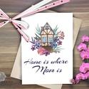 Anyák napi Képeslap, Anyák napja üdvözlőlap, Anya Képeslap,Tavasz, pillangó festmény, húsvét, Naptár, képeslap, album, Anyák napja, Képeslap, levélpapír, Húsvéti díszek, Ajándékkísérő, Fotó, grafika, rajz, illusztráció, Mindenmás, Anyáknapi képeslap A/6-os méretű Igényes tavaszi Üdvözlőlap  Lepd meg Anyukádat ezzel a csodás, gyö..., Meska