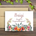 Esküvői meghívó, Esküvői lap, koszorúslány meghívó, Esküvő Képeslap, virágos lap, menyasszony, Esküvő, Naptár, képeslap, album, Meghívó, ültetőkártya, köszönőajándék, Képeslap, levélpapír, Esküvői meghívó, A/6-os Egyedi, Alkalmi, Igényes Esküvői, koszorúslány lap, meghívó, gyönyörű fényes..., Meska