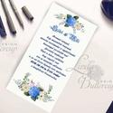 Esküvői meghívó Kék Hortenzia Virágos, Nyári Virágos Esküvői lap, Hortenzia, virágos meghívó, Kék Esküvő, Esküvő, Naptár, képeslap, album, Meghívó, ültetőkártya, köszönőajándék, Képeslap, levélpapír, Kék Hortenzia Esküvői Virágos Meghívó  * MEGHÍVÓ CSOMAG * BORÍTÉKKAL  - Meghívó lap, egy oldalas: há..., Meska
