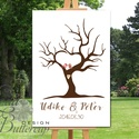 Esküvői ujjlenyomat fa feszített vásznon, Esküvői fa, szerelmes madár pár, Emlék, Esküvői dekor, Fa festmény, Esküvő, Esküvői dekoráció, Meghívó, ültetőkártya, köszönőajándék, Nászajándék, Fotó, grafika, rajz, illusztráció, Papírművészet, Esküvői ujjlenyomat fa feszített vásznon.  Mérete: kb. A2 (60x40cm)  Ez a vakrámára feszített, vász..., Meska