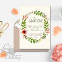 Anyák napi Képeslap, vicces képeslap Anyák napjára, Anya Képeslap,Tavasz, virág festmény, virágos kert, Naptár, képeslap, album, Anyák napja, Képeslap, levélpapír, Húsvéti díszek, Ajándékkísérő, Fotó, grafika, rajz, illusztráció, Mindenmás, Anyáknapi képeslap A/6-os méretű Igényes tavaszi Üdvözlőlap  Lepd meg Anyukádat ezzel a csodás, gyö..., Meska