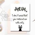 Vicces Anyák napi Képeslap, képeslap Anyák napjára, Anya Képeslap,Cicás lap, Vicces Angol felirat, Mum, Naptár, képeslap, album, Képeslap, levélpapír, Ajándékkísérő, Fotó, grafika, rajz, illusztráció, Mindenmás, Vicces Anyáknapi képeslap A/6-os méretű Igényes tavaszi Üdvözlőlap  Lepd meg Anyukádat ezzel a jópo..., Meska