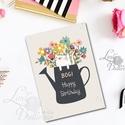 Szülinapi képeslap, Virágos képeslap, Személyre szóló Születésnapi Képeslap, Cicás Képeslap, cica kép, Naptár, képeslap, album, Dekoráció, Képeslap, levélpapír, Ajándékkísérő, Fotó, grafika, rajz, illusztráció, Mindenmás, A/6-os Személyre szóló Egyedi Aranyos Szülinapi képeslap, prémium borítékkal.  Bármilyen más felira..., Meska