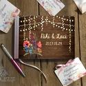 Rusztikus Esküvői Emlékkönyv, Virágos könyv, Vadvirág, Esküvői vendégkönyv, réti virág, Party, bohém, Esküvő, Naptár, képeslap, album, Meghívó, ültetőkártya, köszönőajándék, Esküvői dekoráció, Esküvői Virágos A5-ös Emlékkönyv.  Gyönyörű Igényes Esküvői Emlékkönyv, A5-ös méret, 70 prémium lapo..., Meska