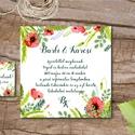 Nyári Réti Virágos Esküvői meghívó, réti pipacs, vadvirág, Rusztikus Esküvői lap, nyári meghívó, Esküvő, Naptár, képeslap, album, Meghívó, ültetőkártya, köszönőajándék, Képeslap, levélpapír, Minőségi Esküvői Meghívó  * MEGHÍVÓ BORÍTÉKKAL: 1. Meghívó lap, egy oldalas: kb.: 13x13cm 2. Kísérők..., Meska