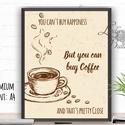 Kávé Print, Konyhai falikép, Konyha dekoráció, Espresso, Kávézó, Coffee, idézet, Iroda dekor, Office, Dekoráció, Férfiaknak, Konyhafőnök kellékei, Kép, Festészet, Fotó, grafika, rajz, illusztráció, A4/-es méretű Konyhai Falikép, Kávé Imádóknak  Coffee Print angol igényes designos felirattal.  Tök..., Meska