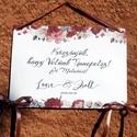 Esküvői Dekoráció, Esküvői felirat A4, dekor, Felirat, Banner, Bunting, Esküvő, Vintage, Rusztikus, tábla, Esküvő, Dekoráció, Esküvői dekoráció, Nászajándék, Fotó, grafika, rajz, illusztráció, Papírművészet, Esküvői Dekoráció, A4-es nyomtatott lap, szalaggal kötve, a pár nevével, virág Designal, passzoló s..., Meska