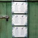 Vintage Esküvő, Ültetési rend, Esküvői Ültetésrend, Virágos, Rusztikus, Esküvő ültető kártya, Dekor, levendula, Esküvő, Naptár, képeslap, album, Meghívó, ültetőkártya, köszönőajándék, Esküvői dekoráció, Virágos Esküvői Ültetési rend.  Gyönyörű Igényes Esküvői Ültetési rend, A4-es lapok, szalaggal össze..., Meska