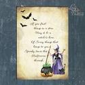 Halloween Kép, Halloween party, Halloween Dekoráció, Őszi Ajtódíszr, Dekoráció, Dísz, Kép, Ünnepi dekoráció, A/4-es méretű Halloween-es nyomtatott kép, Print lap.  Tökéletes Halloween-i dekoráció vagy ajándék ..., Meska