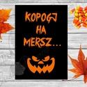 Halloween Kép, Halloween party, Halloween Dekoráció, Őszi Ajtódíszr, Dekoráció, Dísz, Kép, Ünnepi dekoráció, Ajtódísz, kopogtató, A/4-es méretű Halloween-es nyomtatott kép, Print lap.  Tökéletes Halloween-i dekoráció vagy ajándék ..., Meska