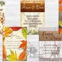 Őszi meghívó, Őszi Esküvő, Rusztikus, Vintage Esküvő, ősz, Esküvői képeslap, őszi levelek, október, Esküvő, Naptár, képeslap, album, Meghívó, ültetőkártya, köszönőajándék, Képeslap, levélpapír, Őszi Rusztikus Esküvői meghívó, Amerikai stílusban gyönyörű prémium borítékkal.  Ősszel lesz az Eskü..., Meska
