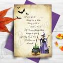 Halloween Meghívó, Halloween Képeslap, Üdvözlőlap, Őszi narancssárga lap, Naptár, képeslap, album, Dekoráció, Képeslap, levélpapír, Ünnepi dekoráció, A/6-os méretű Halloween Party meghívó, borítékkal.   Meghívó A6-os1 lapos - 1oldalas nyomtatás, háto..., Meska