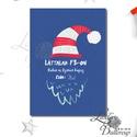 Vicces Karácsonyi Képeslap, Humorors, Modern, Adventi kártya, Vicces lap, üdvözlőlap, ironikus, szarkasztikus, Dekoráció, Ünnepi dekoráció, Karácsonyi, adventi apróságok, Ajándékkísérő, képeslap, Fotó, grafika, rajz, illusztráció, Mindenmás, A/6-os méretű VICCES Igényes Egyedi Karácsonyi képeslap, borítékkal együtt.  A képeslap kinyitható,..., Meska