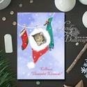 Karácsonyi Képeslap, Állatos, cicás, Cuki, Adventi, cica, Karácsonyi üdvözlőlap, Ünnepi ap, Karácsonyfa, hó, A/6-os méretű Igényes kinyitható Egyedi Karác...