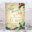 Karácsonyi Party Meghívó, Vintage meghívó, Kari Buli, Vintage party, Retro party, karácsony, klasszikus, elegáns, Dekoráció, Ünnepi dekoráció, Karácsonyi, adventi apróságok, Ajándékkísérő, képeslap, Fotó, grafika, rajz, illusztráció, Papírművészet, Vintage stílusú Karácsonyi Elegáns Party meghívó  Hívd meg vendégeidet ezzel a gyönyörű egyedi megh..., Meska