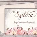 Esküvői meghívó, Rusztikus Esküvő, tanú lap, koszorúslány kérő, Esküvői Képeslap, virágos, Esküvő, Naptár, képeslap, album, Meghívó, ültetőkártya, köszönőajándék, Képeslap, levélpapír, Esküvői meghívó, koszorúslány vagy tanú kérő lap A/6, gyönyörű fényes borítékkal.  Személyre szóló, ..., Meska