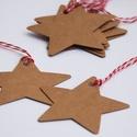 10 db Vintage Karácsonyi Ajándékkísérő, Adventi Kártya, Csillag, Mikulás, barna, Ünnepi kártya, kiskártya, ajándék, Naptár, képeslap, album, Karácsonyi, adventi apróságok, Ajándékkísérő, képeslap, Ajándékkísérő, 10 DB-os Vinateg stílusú Csillag mintájú Igényes Ajándékkártya szett   * Átmérője a Csillagnak: 6cm ..., Meska